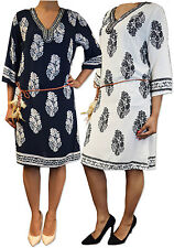 Unbranded V-Neck 3/4 Sleeve Dresses for Women