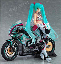 2Pcs/Set Anime Hatsune Miku With Motorcycle Racing Ver PVC Figure Cool