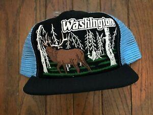 Vintage Washington Mesh Trucker Hat Snapback Hat Baseball Cap USA Made