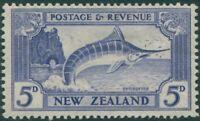 New Zealand 1935 SG563 5d ultramarine Striped Marlin MLH