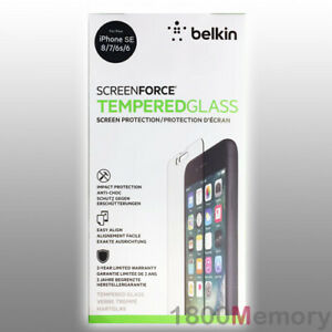 GENUINE Belkin Screen Force Tempered Glass Protector for iPhone 8 7 6 6S SE 2020