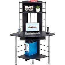 Compact Corner Laptop table Home Office - Piranha Furniture Graphite Black PC 8g