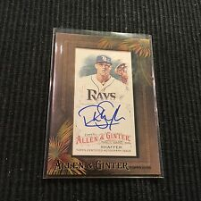 2016 TOPPS ALLEN GINTER RICHIE SHAFFER *FRAMED AUTO*  TAMPA BAY RAYS