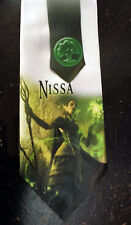 L@@K! Nissa Revane the Nature Mage Neck Tie - Magic The Gathering Neck Tie - MTG