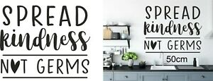 kitchen wall art 'spread kindness not germs' 50cm
