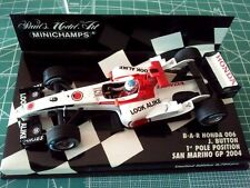 MINICHAMPS 400040109 - Jenson BUTTON - BAR HONDA 006 - 1e Pole SAN MARINO - 2004