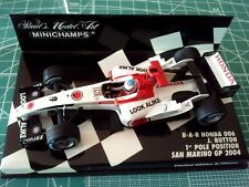 Jenson BUTTON - MINICHAMPS 400040109 - BAR HONDA 006 - 1e Pole SAN MARINO - 2004
