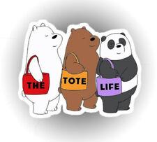 We Bare Bears Panda Polar Tote Life Pride car laptop sticker