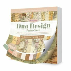 """HUNKYDORY SAMPLE MAPS & AGED PAPERS 12 X 8"""" X 8"""" GREAT FOR CARDS AND CRAFTS"""