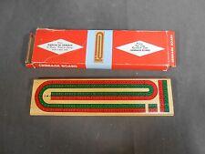 Vintage Wood Wooden Planche De Cribbage Deluxe Game Board