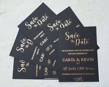 Foil Save the Date Cards Wedding Invitations. Rose Gold  Wedding Invite SAMPLES