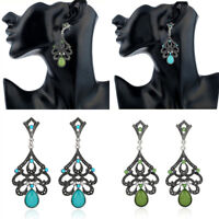 1Pair Vintage Women Lady Crystal Drop Fashion Earrings Ear Stud Dangle Jewelry