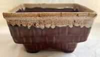 Vintage McCoy Brush USA 7 Inch Earth Tone Planter