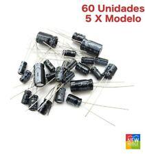 60 Condensador Electrolitico 0,22uF 0,47uF 1uF 2,2uF 4,7uF 10uF 22uF 33uF 470uF