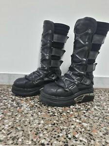 new rock boots scarpe alte stivali n43 steam punk rock dark gothic