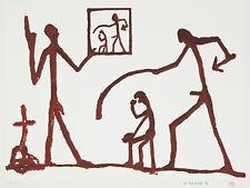 A. R. Penck, original Farbserigraphie, handsigniert und nummeriert.