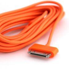 CHARGEUR RENFORCE POUR IPHONE 4S 4 3GS 3 IPAD IPOD 2 METRES CABLE USB ORANGE