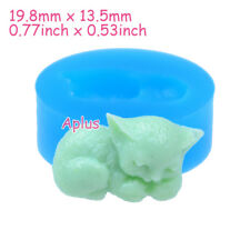 DEB006 19.8mm Cat Silicone Mold Animal Mold Cupcake Topper Resin Jewelry Soap