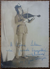 PHOTO ANCIENNE HENRI MANUEL - DEDICACE RENE BONNEVAL DE L'OPERA COMIQUE - RARE