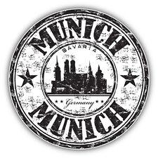 "Munich City Germany Grunge Travel Stamp Car Bumper Sticker Decal 5"" x 5"""
