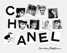 Haute Couture Polaroid Chanel Audrey Hepburn  24'  Large CANVAS Art  Print