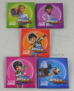 New Disney D23 Expo 2015 Miles From Tomorrowland Button Pin Back Pinback 5 Set