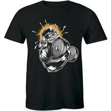 I Lift Heavy Things Gorilla Muscle Gym Fitness Sport Crossfit Slogan Men T-shirt