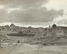 VIEW OF JERUSALEM FROM SOUTHEAST 8X10 PHOTO 1900-1940