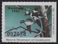 US Stamps - Scott # MO04 - 1982 Missouri Waterfowl Stamp - MNH           (L-910)