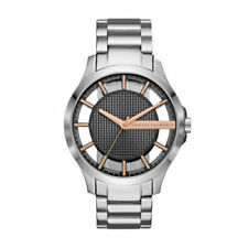 BRAND NEW Armani Exchange Men's Silver Stainless Steel Bracelet Watch AX2199