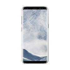 "New Samsung Galaxy S8+ Plus G955U 4G LTE AT&T 6.2"" 64GB 12MP Phone Arctic Silver"