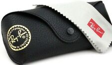 Ray Ban Sunglasses Eye glasses case Black leather with cleaning cloth