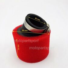 Red 42mm Angled Foam Pod Air Filter GY6 150cc Moped 125cc 140cc Pit Dirt Bike
