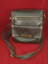 The Sak Dark Brown Leather Cross-body Messenger Shoulder Bag Purse Organizer