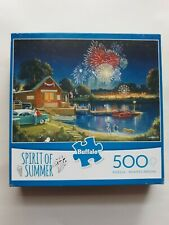 "Fireworks Kids July 4th ""Spirit of Summer"" 500 Piece Jigsaw Puzzle Buffalo"