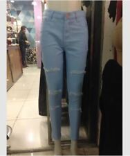 LADIES Tattered Jeans (ACID WASH)  SIZE 32