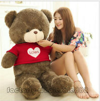 47in. Giant Big Teddy Bear Plush Soft Toys Doll Pillow Gift Love Stuffed Animals