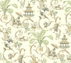 Mandarin Prose Wallpaper WA7772 Waverly leopard pagoda prepasted Sure Strip