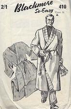 1940s Jahre Vintage Näh Muster Kiste: 96.5cm Herren Bademantel/Hauskleid (1284)