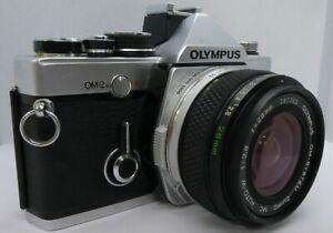 Vintage Olympus OM2N SLR 35mm Film Camera, f2.8 28mm Wide Angle Lens