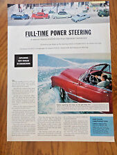 1953 Chrysler AdFull-time Power Steering A Superior Feature