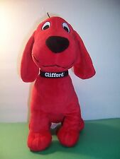 KOHL'S CARES FOR KIDS CLIFFORD THE BIG RED DOG / NAME ON COLLAR -- PLUSH  -- VGC