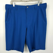 Adidas Mens Flat Front Blue Golf Casual Shorts Size 36