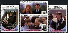 Bequia 1986 Royal Wedding MNH Set #D36318