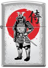 Samurai Warrior Armor Brushed Chrome Zippo Lighter
