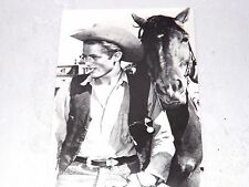Postcard James Dean with Horse Black & White Unposted New #232-015