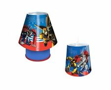Transformers 2pc Childrens Bedroom E14 Kool Lamp Tapered Pendant Light Shade Set