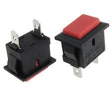 5pcs 2 Pins Red Momentary NO  SPST Push Button Switch 6A/250V 10A/125V AC