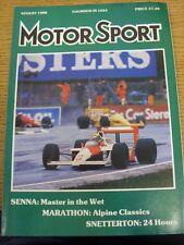 Aug-1988 MOTOR SPORT MAGAZINE: GIORNALE SETTIMANALE AUTOMOBILISMO-in sospeso il contenuto W