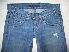 Miss Sixty Ex Love Blue Distressed Jeans Size 24 W28 L30.5